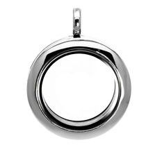 Medium 25mm Plain Silver Floating Locket