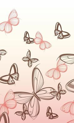 Flowery Wallpaper, Butterfly Wallpaper, Pastel Wallpaper, Animal Wallpaper, Screen Wallpaper, Wallpaper Backgrounds, Iphone Wallpaper, Butterfly Pictures, Butterfly Flowers