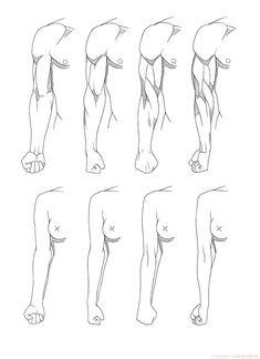 腕ひねり正面 | KITAJIMAのお絵かき研究所