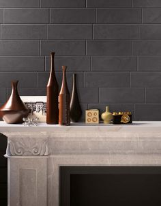 Ceramiche Supergres launch three new collections - Brit, Carnaby and Lake Stone at Cersaie 2014 Classic Fireplace, Foyers, Fireplaces, Decorating Your Home, Objects, Product Launch, Collections, Decor Ideas, Interiors