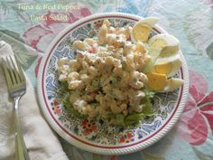 The flavors and textures are wonderful and it costs very little per portion. http://pattyandersonsblog.blogspot.com/2013/07/tuna-and-red-pepper-pasta-salad.html
