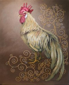 how to paint a rooster with acrylics