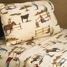 Twin / Queen Sheet Sets for Wild West Cowboy Western Teen and Kids Bedding Sets - Horse Print Kids Sheets, Twin Sheets, Twin Sheet Sets, Cotton Sheet Sets, Cotton Sheets, Flat Sheets, Cowboy Bedroom, Boys Cowboy Room, Teen Boy Bedding