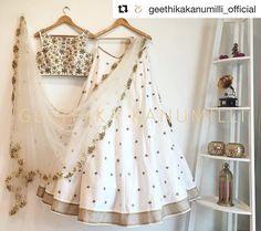 White beauty #Repost @geethikakanumilli_official (@get_repost) ・・・ �� . . . #bride #bridetobe #bridal #prewed #whattowear #white #whitelehenga #designer #mehendi #sangeet #sisterofthebride #sisters #bridesmaids #bff #love #indian #indianwear #fashion #bridalfashion #instalove #weddingblog #frugal2fab #instalike #beautiful #ivory #croptop http://gelinshop.com/ipost/1517420332482068434/?code=BUO9cC0jH_S