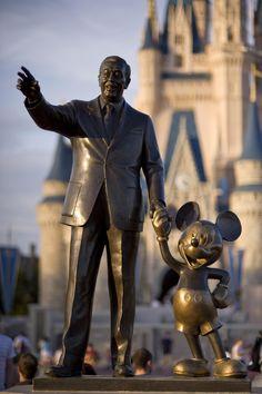 """Walt Disney World"" by robert_rex_jackson on Flickr - This depicts a statue of Walt Disney and Mickey Mouse at Magic Kingdom, Walt Disney World, Orlando, Florida."