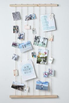 The large hang & peg frame kit is the easiest way to bring a dull wall to life! <br> Peg up pictures, feathers, inspirations, pretty much anything that makes you smile or suits your style! <br> Adjustable knots to change the width and suit your space. <br> Size: 3cm deep x 70cm tall x 40cm wide with included twine length. <br> Material: Wood, Metal,Twine <br> Features: 2 Wooden Edges of a frame with Twine and Mini pegs. <br> Safety info: For Decoration Only, Contains small parts keep away…
