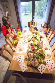 Tea party tablescape from an Alice in Wonderland Halloween Tea Party on Kara's Party Ideas | KarasPartyIdeas.com (8)