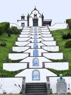 Bom Jesus do Monte (aka Good Jesus of the Mount), a church situated just beyond the city of Braga, in Portugal's north. The Baroque building is famous for the ornamental stairway that zig zags up the hill towards the church, leading visitors on a spiritual journey.