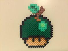 perler bead mushroom Apple - by Bjrnbr