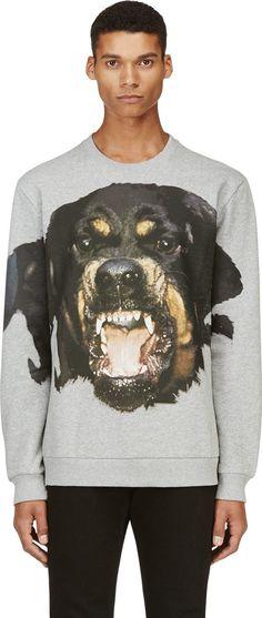 5f9897ce0e25 Givenchy Grey Rottweiler Print Sweatshirt Givenchy Clothing