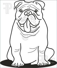 english bulldog illustration - Google Search