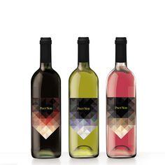 wine labels on Behance