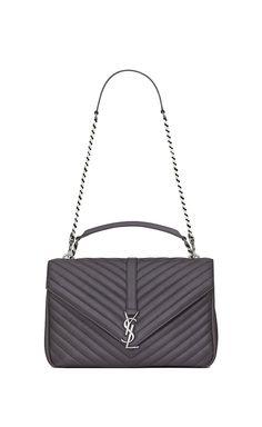 93e7474863 Saint Laurent. Queen Bee of Beverly Hills. SAINT LAURENT Monogram College  Woman large collège bag in ...