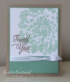 A quick and easy card - cased from the catalog featuring the Definitely Dahlia stamp set - Kristin Kortonick #stampinup