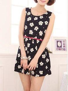 Women 's Daisy Print Dress