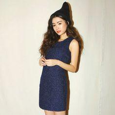 [Stylenanda] Sleeveless Mini Jacquard Dress