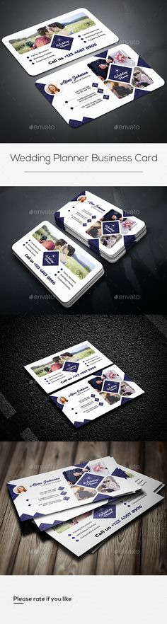 Buy Wedding Planner Business Card by victormohin on GraphicRiver. Wedding Planner Business Card Template : Fully editable, customizable and print ready. Modern Business Cards, Business Card Design, Wedding Pinterest, Wedding Cards, Wedding Planner, Card Designs, Card Templates, Creative, Wedding Ecards