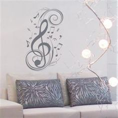 Love this musical wall stencil