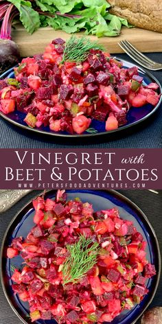 A classic Russian Vinegret Beet and Potato Salad, popular across Eastern Europe. A healthy, hearty and delicious salad, vegan and gluten free. Salad Recipes, Vegan Recipes, Cooking Recipes, Potato Recipes, Vegetable Recipes, Delicious Recipes, Russian Beet Salad, Great Recipes, Favorite Recipes