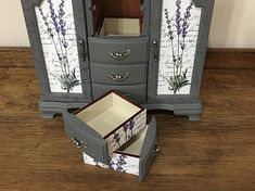 SOLD Custom Jewelry Armoire Hand Painted Vintage Jewelry Box