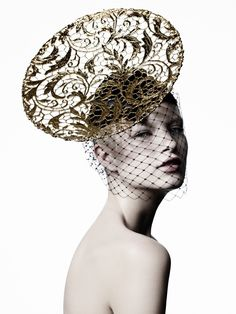 Suzy O'Rourke Millinery  Autumn / Winter 2012 'Gilt' couture hat collection
