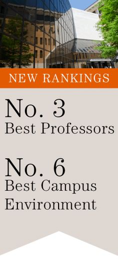 McCombs's consistent top ranking in various categories speaks of its continuous endeavor to maintain high standards. It comforts me to know that I'll be in the right hands to shape my future. Best of the professors with a conducive environment will prepare me to take on the world.