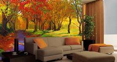 autumn wall mural