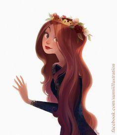 〆(⸅᷇˾ͨ⸅᷆ ˡ᷅ͮ˒)                                                               Red Hair and Roses by Blumina