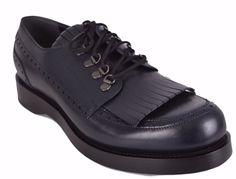 1038ffa0b81b NEW Gucci Men s 358271 Blue Leather Fringe Brogue Oxford Shoes 8 G 9 U.S   Gucci