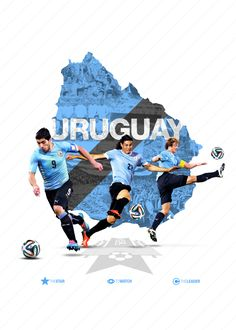 Uruguay World Cup 2014 Brazil World Cup, World Cup Russia 2018, World Cup 2014, Soccer Art, Soccer Poster, Fifa Football, World Football, Lionel Messi, Fifa World Cup Teams