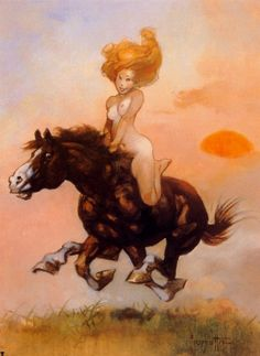 FRANK FRAZETTA - Girl on Horse