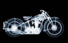 Here is a really cool piece of motorcycle art. how about an X-ray photograph? - by Nick Veasey Motorcycle Wiring, Motorcycle Art, Bike Art, Interior Design Shows, Mechanical Art, Mechanical Engineering, Beneath The Surface, Banksy, Op Art