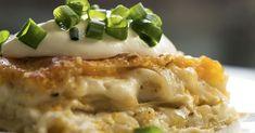 pierogi lasagna   This lasagna is the best twist on your favorite cheesy potato dumplings!