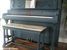 Painted pianos- they are a fun way to brighten up a room! The thing that got me into all this painting of furniture was turning an old thrift store piano into a show piece in my living room. There …