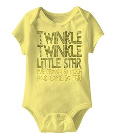 This American Classics Banana 'Twinkle Twinkle' Bodysuit - Infant by American Classics is perfect! #zulilyfinds