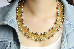 how to bead a necklace