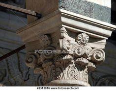 Ornamental Capital of facade Duomo /St Zeno/ - Pistoia Tuscany