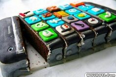 iphone ice cream cake,Foods and Drinks India Beautiful Cakes, Amazing Cakes, Iphone Cake, Happy 5th Birthday, Birthday Cake, Birthday Ideas, Teen Birthday, Cake Creations, Cake Art