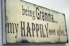 Gramma Grandma Mimi Nana Grammy Shabby Chic Cottage Chic Rustic Distressed Wood Sign Home Decor Vintage Handpainted Sign White