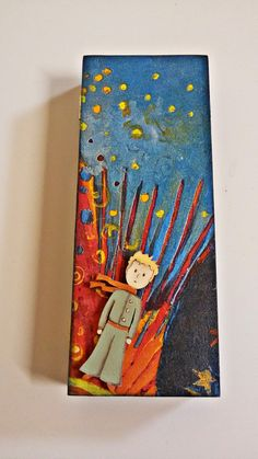 Little Prince pencil case by Thoulie on Etsy Diy Pencil Case, Leather Pencil Case, Handmade Jewelry Box, Handmade Items, Handmade Wooden, Butterfly Jewelry, I Fall In Love, Wooden Boxes, Special Gifts