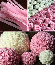 Resultado de imagen para centros de mesa con flores de papel como hacerlos
