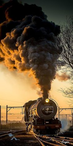 Oh how I love an old steam locomotive! Locomotive Diesel, Steam Locomotive, Train Tracks, Train Rides, Motor A Vapor, Old Steam Train, Bonde, Train Art, Train Pictures