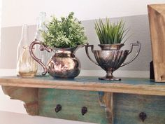 $.99 thrift-store finds! perfect containers for my faux succulents .. #reallife #mydecor