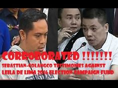 Part 2 Jaybee Sebastian and Herbert Colangco Election campaign fund corroborated Philippine News, Latest news In The Philippines, Laila De Lima, Philippine . Lima, Philippine News, Campaign, Limes
