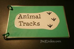 DIY Animal Tracks book with a link to the printables.----- has a link to Montessori for Everyone, a site that has a lot of free printables for Montessori-type materials.