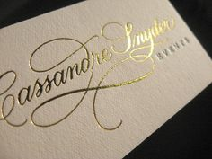 I definitely want a script on my new business cards. If only I could choose one!!!