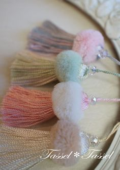Wonderful Ribbon Embroidery Flowers by Hand Ideas. Enchanting Ribbon Embroidery Flowers by Hand Ideas. Pom Pom Crafts, Yarn Crafts, Sewing Crafts, Diy Tassel, Tassel Jewelry, Silk Ribbon Embroidery, Hand Embroidery Designs, Handmade Crafts, Diy And Crafts