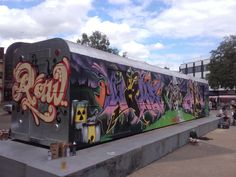 #Upfest #Subwaycars being covered in #Graffiti was completed at #Hypefest #Gloucester #2016.