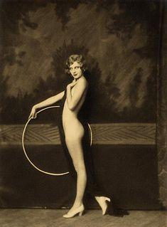 Olive Brady with hula hoop cheney johnston, oliv bradi, hula, jazz age, ziegfeld girl, ziegfeld folli, alfr cheney, hoop nude, olives