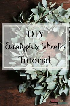 This is such an easy way to create a gorgeous eucalyptus wreath! The colors are so pretty!
